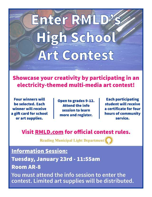 Flyer HS Art Contest 2018 North Reading